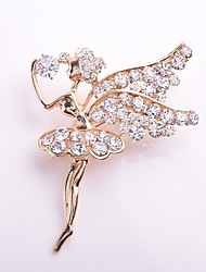 cheap -Women's Brooches Princess Elegant Sweet Rhinestone Brooch Jewelry Gold For Daily Casual