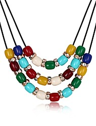 cheap -Women's Pendant Necklace Mother Daughter Ladies Fashion Gold Plated Rainbow Necklace Jewelry One-piece Suit For Party Daily