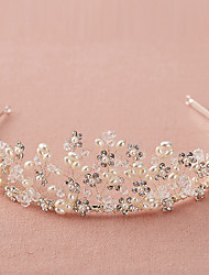 cheap -Crystal / Rhinestone Tiaras / Headbands with Scattered Bead Floral Motif Style / Crystals 1pc Wedding / Birthday Headpiece