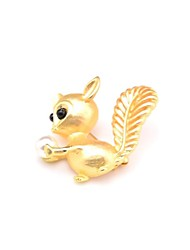 cheap -Women's Brooches Animal Ladies Sweet Imitation Pearl Brooch Jewelry Gold For Daily Going out