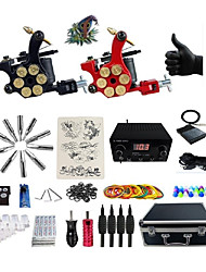 cheap -BaseKey Professional Tattoo Kit Tattoo Machine - 2 pcs Tattoo Machines, Professional LED power supply 2 alloy machine liner & shader / Case Included