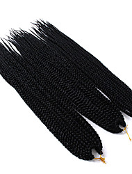 cheap -Braiding Hair Box Braids Crochet Hair Braids Synthetic Hair 3 Pieces Hair Braids Long Ombre Braiding Hair African Braids
