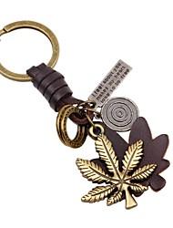 Недорогие -Брелок В форме листа Классика корейский Модные кольца Бижутерия Золотой Назначение Школа На выход