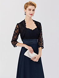 cheap -3/4 Length Sleeve Shrugs Lace Wedding / Party / Evening Women's Wrap With Lace