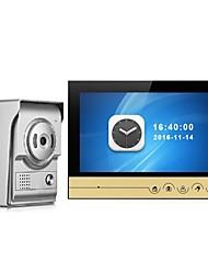 Недорогие -9-дюймовый цветной монитор записи видео домофон домофон с ночным видением камеры дверной звонок домофон