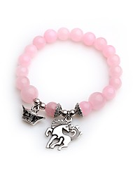 cheap -Women's Crystal Charm Bracelet Bead Bracelet Animal Crystal Bracelet Jewelry Pink For Prom Bar