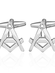 cheap -Cufflinks Celebrity Style Brooch Jewelry Silver For Wedding