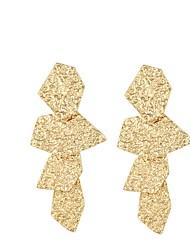 Недорогие -Жен. Серьги-слезки геометрический Массивный Классический Серьги Бижутерия Золотой / Серебряный Назначение Для вечеринок Для сцены