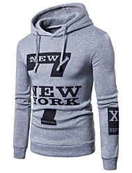 cheap -Men's Hoodie Letter Print Hooded Active Long Sleeve White Black Light gray M L XL XXL