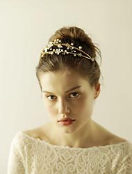 cheap -Imitation Pearl Rhinestone Alloy Tiaras Headbands Flowers Head Chain with Rhinestone Flower 1pc Wedding Special Occasion Headpiece