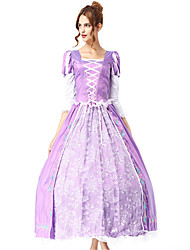 cheap -Princess Goddess Sofia Dress Cosplay Costume Women's Christmas Halloween Carnival Festival / Holiday Poly / Cotton Light Purple Women's Carnival Costumes Solid Colored Embroidery