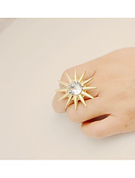 cheap -Women's Band Ring Gold Rhinestone Alloy Line Ladies Simple Elegant Casual Going out Jewelry