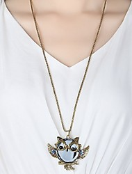 cheap -Men's Women's Pendant Necklace Owl Simple Hip-Hop Rhinestone Alloy Necklace Jewelry For Daily Going out