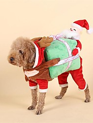 cheap -Dog Costume Christmas Dog Clothes Christmas Red Other Material Down Costume For Spring &  Fall Winter Men's Women's Christmas