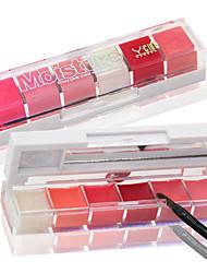 Недорогие -1 pcs 6 цветов Повседневный макияж Инструменты для макияжа Жидкость Блеск для губ Не содержит аммиака / Не содержит формальдегидов Сухие / влажный / Отблеск