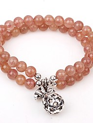 cheap -Women's Crystal Charm Bracelet Bead Bracelet Strawberry Classic Crystal Bracelet Jewelry Beige For Daily Going out