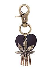 Недорогие -Брелок В форме листа Сердце Винтаж Мода Модные кольца Бижутерия Золотой Назначение Школа Праздники
