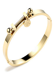 cheap -Women's Bracelet Bangles Ladies Fashion Korean Alloy Bracelet Jewelry Rose Gold / Gold For Gift Daily Date