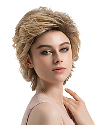cheap -Synthetic Wig Curly Curly Layered Haircut Wig Short Brown Synthetic Hair Women's Ombre Hair Dark Roots Brown MAYSU