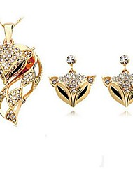 cheap -Women's Drop Earrings Necklace Fox Animal Imitation Diamond Earrings Jewelry Gold / Silver For Daily