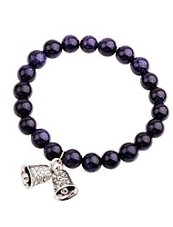 cheap -Women's Onyx Bead Bracelet Asian Fashion Agate Bracelet Jewelry Dark Blue For Daily School