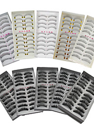 cheap -Eyelash Extensions Makeup Tools False Eyelashes 100 pcs Casual / Daily Fiber Daily Full Strip Lashes Thick Natural Long - Makeup Daily Makeup Cosmetic Grooming Supplies