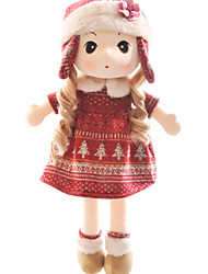 cheap -Girl Doll Plush Doll Novelty People Cartoon Cute Child Safe Non Toxic Fun Lovely Kid's Girls' Toy Gift