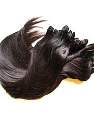 Недорогие -6 Связок Бразильские волосы Прямой человеческие волосы Remy 300 g Человека ткет Волосы 8-24 дюймовый Ткет человеческих волос Расширения человеческих волос