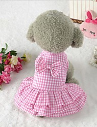 cheap -Christmas Dog Clothes Blue Pink Costume Cotton Party Casual / Daily Wedding S M L