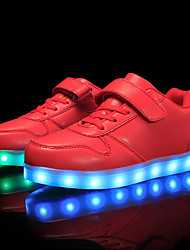 cheap -Boys USB Charging  LED / Comfort / LED Shoes Customized Materials / Leatherette Sneakers Little Kids(4-7ys) / Big Kids(7years +) Lace-up / Magic Tape / LED Black / White / Red Fall / Winter / TR