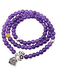 cheap -Women's Crystal Bead Bracelet Wrap Bracelet Flower Ethnic Fashion Crystal Bracelet Jewelry Purple For Gift Date