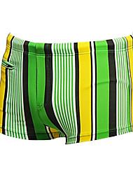Недорогие -Муж. Купальные шорты Спандекс Пляжные шорты Плавание Серфинг Пляж  В полоску