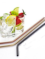 cheap -Drinkware Straws Stainless Steel Portable Christmas Gifts / Event / Party / Coffee