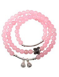 cheap -Women's Crystal Bead Bracelet Bracelet Bowknot Fashion Crystal Bracelet Jewelry Pink For Party Gift
