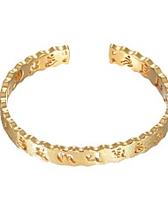 cheap -Women's Cuff Bracelet Music Notes Fashion Copper Bracelet Jewelry Gold For Wedding Daily