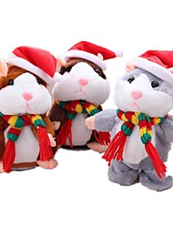 cheap -Stuffed Animal Plush Toys Plush Dolls Stuffed Animal Plush Toy Mouse Hamster Cute Kids Sounds Imaginative Play, Stocking, Great Birthday Gifts Party Favor Supplies Kid's