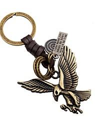 Недорогие -Eagle Брелок Золотой Кожа Сплав Назначение Очаровательный