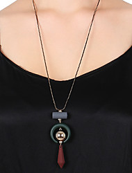cheap -Men's Pendant Necklace Pendant Basic Fashion Cord Acrylic Dark Red Necklace Jewelry For Daily Street