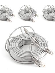 Недорогие -Кабели 4PCS 99ft CCTV RJ45 Video Network Cable DC Power Camera Extension для Безопасность системы 3000cm 2.7kg