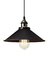 Недорогие -винтажные подвесные светильники 1-светлый металлический оттенок гостиная столовая коридор освещение диаметр 26см