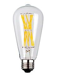 cheap -KWB 1pc 9 W LED Filament Bulbs 1100 lm E26 / E27 ST64 12 LED Beads COB Warm White 220-240 V / 1 pc / RoHS
