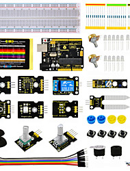 abordables -kit capteur keyestudio - k4 pour arduino kit démarreur compatible arduino uno r3 board adl345joystickrelayrgb led19projects