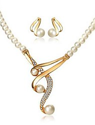 cheap -Women's Drop Earrings Necklace Ladies Classic Fashion Imitation Pearl Imitation Diamond Earrings Jewelry Gold For Daily