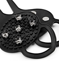 cheap -Traction Cleats Crampons Antiskid Portable Rubber Metal Hiking Climbing Camping / Hiking / Caving 2 pcs Black