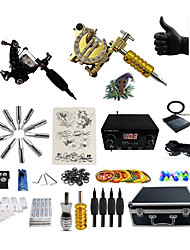 cheap -BaseKey Professional Tattoo Kit Tattoo Machine - 2 pcs Tattoo Machines, Professional LCD power supply 2 alloy machine liner & shader / Case Included