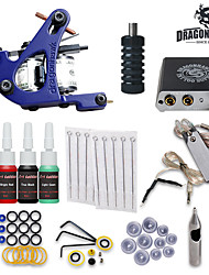 cheap -Tattoo Machine Starter Kit - 1 pcs Tattoo Machines with 4 x 5 ml tattoo inks, Professional LCD power supply Case Not Included 1 cast iron machine liner & shader