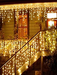 cheap -Christmas Garland Led Curtain Icicle String Light 220V 1.5M 48Leds Indoor Drop Led Party Garden Stage Outdoor Decorative Light
