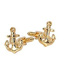 cheap -Cufflinks Ship Stylish Brooch Jewelry Golden For Gift