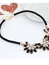 cheap -Women's Pendant Necklace Flower Ladies Sweet Elegant Resin Alloy Black Necklace Jewelry For Evening Party Stage