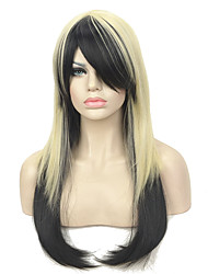 cheap -Synthetic Wig Straight Straight With Bangs Wig Long Black / Blonde Synthetic Hair Women's Black StrongBeauty